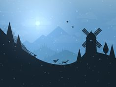 """Good Night!   (no words - """"Alto's Adventure- beautiful game flow! #android #ios #simplicity"""")"""