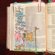 Illustrated faith bible art journaling Robert frost