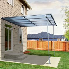Outdoor Wall Mounted Door Awning Patio Canopy Cover Sun Shade Polycarbonate & Best Patio Awning | patio cover | Pinterest | Patios Diy patio ...