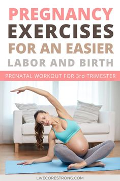 You can find 6 exercises recommended by a physical therapist that will surely help with an easier labor and delivery of your newborn baby. Get stronger now. Exercise For Pregnant Women, Exercise During Pregnancy, Trimesters Of Pregnancy, First Pregnancy, Pregnancy Workout, Pregnant Yoga, Tips For Pregnant Women, Pregnancy Fitness, Pregnancy Quotes