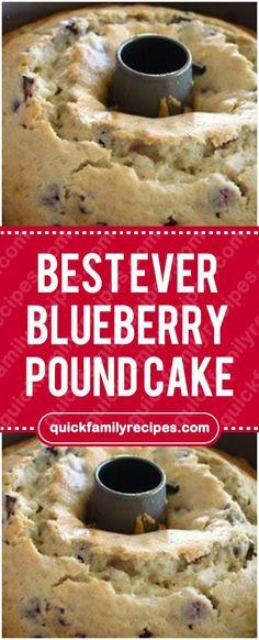 Best Ever Blueberry Pound Cake - Baking Recipes - Dessert Blueberry Pound Cake, Blueberry Recipes, Blue Berry Cake Recipes, Cupcakes, Cupcake Cakes, Baking Recipes, Dessert Recipes, Desserts, Mousse Au Chocolat Torte