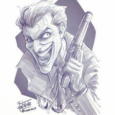 After some changes on my previous sketch: the Joker! This is going to be a new print, specially for @ccxpoficial ___________________________________ Estou fazendo esse Coringa especialmente para a @ccxpoficial - os prints estarão disponíveis em tamanhos A4 e A3. #fabiovalleillustrations