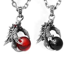 Have a look-through of all our new gothic jewelry items. This gothic jewelry item in particular features a beautiful gemstone, natural stone that's held together by a silver monster claw pendant, boun