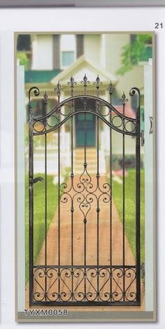 9 Centered Clever Hacks: Privacy Fence With Lattice Modern Fence In Nigeria.Modern Fence In Nigeria. Wrought Iron Decor, Wrought Iron Gates, Grill Door Design, Fence Design, Front Yard Fence, Small Fence, Brick Fence, Horizontal Fence, Cedar Fence