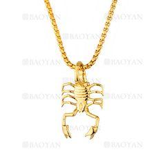collar fina con dije Scorpions dorado en acero inoxidable -SSNEG1133377