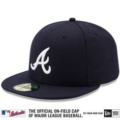 Atlanta Braves Authentic Collection On-Field 59FIFTY Road Cap