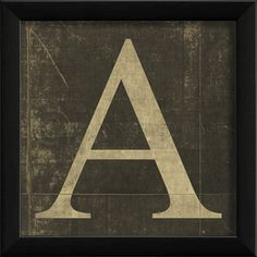 An old school letter A!