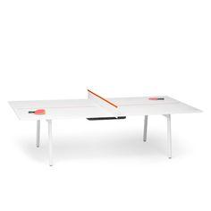White + Orange Series A Ping-Pong Conference Table,Orange,hi-res
