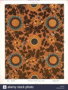 George Harrison & Co (Bradford) Victorian linoleum, 2 yards wide Multiple Images, Victorian Art, George Harrison, Bradford, Yards, Kitchen Remodel, Tapestry, Stock Photos, Antiques