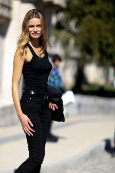 #EditaVilkeviciute getting back to black. Paris. #offduty