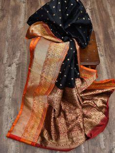 Sacred Weaves - Shop for Exquisite Banarasi Sarees Online Banaras Sarees, Tussar Silk Saree, Pure Silk Sarees, Indian Dress Up, Indian Attire, Indian Wear, Weave Shop, Saree Tassels, Traditional Silk Saree