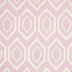 Safavieh Hand-woven Moroccan Dhurrie Pink/ Ivory Wool Rug (5' x 8')
