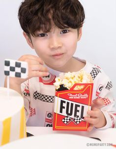 Fuel Treat Favor Boxes (Set of 8) – Momo Party 2nd Birthday Party For Boys, Birthday Gift Bags, Cars Birthday Parties, Birthday Ideas, Race Car Themes, Race Cars, Car Themed Parties, Race Car Party, Colorful Party
