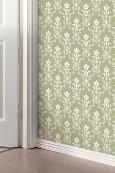 Klassisk papperstapet producerad i Sverige. Noggrant återskapade av originaltapeter från 1700- till 1900-talen. Tapeterna tillverkas med hänsyn till vår miljö, tål att tvättas med tvål och vatten och har en hög ljushärdighet Rullängd 10,05 m, bredd 53 cm. Mönsterhöjd 19 cm, 19 cm mönsterpassning. Förskjuten mönsterpassning. Möblerna i bilden säljs inte på Ellos.
