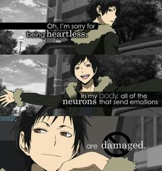 Oh, I'm sorry for being heartless. In my body, all the neurons that emit emotions . - Shounen And Trend Manga Me Anime, Girls Anime, Anime Life, Anime Manga, Manga Girl, Anime Art, Sad Anime Quotes, Manga Quotes, Depressing Quotes