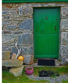 Front entrance of an uninhabited cottage | Dugort, Achill Island,  Co. Mayo, Ireland