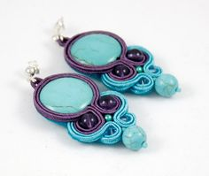 soutache - earrings  mishtiart.blogspot.com - follow me! :) Soutache Bracelet, Soutache Jewelry, Beaded Jewelry, Handmade Jewelry, Quilling Earrings, Quilling Jewelry, Diy Earrings, Soutache Tutorial, Ideas Joyería