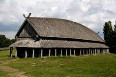 The reconstructed viking house at Trelleborg Viking Fortress... I've been here and it's AMAZING.