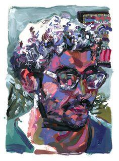 """Saatchi Art Artist Omar Khouri; Painting, """"Hatem"""" #art"""