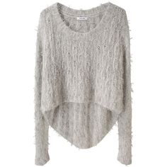 Helmut Lang Angora Floats Pullover (3.475 ARS) ❤ liked on Polyvore featuring tops, sweaters, shirts, jumpers, slim shirt, brown sweater, long sleeve sweater, pullover shirt and pullover sweaters