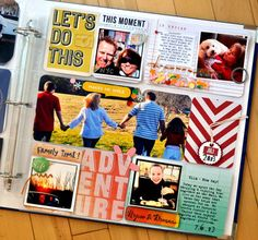 easy colorful scrapbooking #projectlife