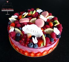 Entremet citron & fruits rouges