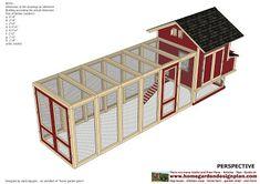 home garden plans: L102 - Chicken Coop Plans Construction - Chicken Coop Design - How To Build A Chicken Coop Chicken Coop Signs, Diy Chicken Coop Plans, Portable Chicken Coop, Best Chicken Coop, Backyard Chicken Coops, Chickens Backyard, Building A Chicken Run, Chicken Coop Blueprints, Home And Garden