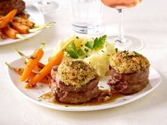 Candle-Light-Dinner - raffinierte Rezepte für zwei - schweinefiletmedaillons  Rezept