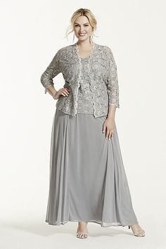 Sheath Column Square Sleeveless Ankle-Length Chiffon Lace Mother of the  Bride Dresses c514b3936