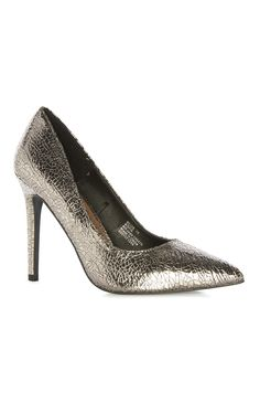 Primark metallic snake effect court a party girl's ideal dancing partner!