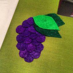 Felt Grape Scrapbook Cover