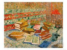 Vincent Van Gogh - The Parisian Novels Art Print. Explore our collection of Vincent Van Gogh fine art prints, giclees, posters and hand crafted canvas products Rembrandt, Vincent Van Gogh, Art Van, Painting & Drawing, Painting Prints, Art Prints, Desenhos Van Gogh, Van Gogh Still Life, Van Gogh Arte