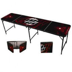 8' Galaxy Black Beer Pong Table