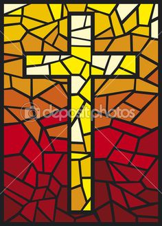 Stained glass cross — Stock Illustration #12678931