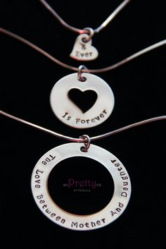 Mother Daughter Grandmother Necklace SetThree by PrettyByPriscilla, $75.00