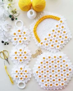 The Latest Floral Daisy Embossed 30 Fiber Weave Models Baby Knitting Patterns, Basic Crochet Stitches, Easy Crochet, Crochet Baby, Party Set, Farm Crafts, Knitting Videos, Embroidery Thread, Spring Crafts