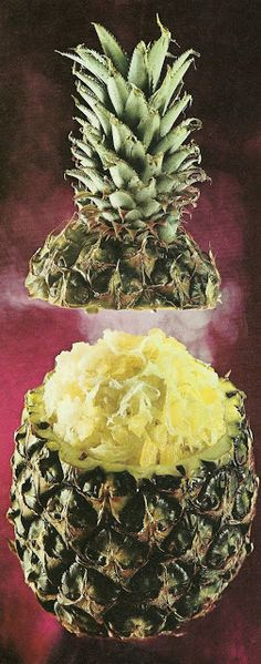 Pineapple stuffed with sauerkraut.  Doesn't get any worse than this.