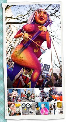 A wonderful celebration of Giant Parade Puppets. April Fools Weekend in Ann Arbor, MI.