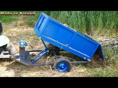 Dump trailer BUILD (without hydraulics) - YouTube Trailer Build, Car Trailer, Lawn Tractor Trailer, Dump Trailers, Garage Tools, Diy Crafts Hacks, Welding Projects, Wheelbarrow, Tractors