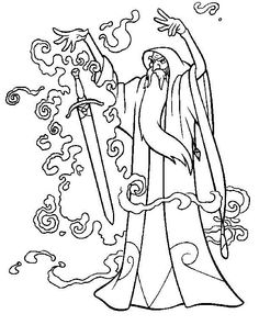 The Magic Sword: Quest for Camelot Coloring pages for kids. Printable. Online Coloring. 9