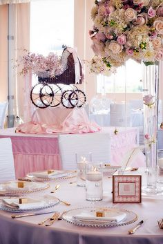 baby shower table set up decorations
