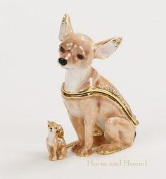 Chihuahua Figurine Treasure Box Dog Figurines - Dog Gifts - By Kingsport Designs #62443 at Horse and Hound Gallery