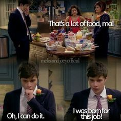 "Teresa: ""That's a lot of food, ma!""  Ryder: ""Oh, I can do it. I was born for this job!"""