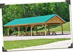 Back Yard Pavilion Plans Free | Custom Wood Post and Beam Pavilions, Picnic Shelters | Sand Creek Post ...