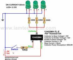 PNP BJT 12A02MH-TL-E as a Switch | IamTechnical.com