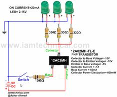 PNP BJT 12A02MH-TL-E as a Switch | IamTechnical.com