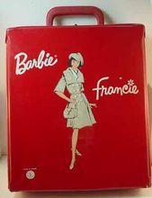 Rare French Barbie Francie Case, Mattel, 1960's.