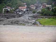 Getty Images In Bosnia-Herzegovina, hundreds of homes were cut off or flooded after the Miljacka river, which runs through Sarajevo, broke its banks. Some 3,500 homes in the capital were left without power. Authorities said emergency workers were supplying food and medicines to those who could not leave their homes.