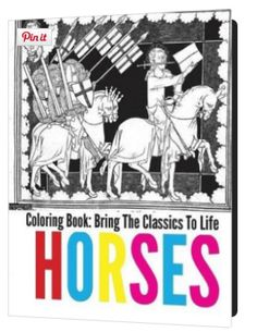 For #horselovers: Download this Free colouring in book - hours of horse related relaxation and fun