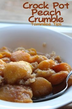 Crock Pot Peach Crumble Recipe